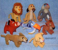 1998 McDonalds Lion King Simba's Pride Set