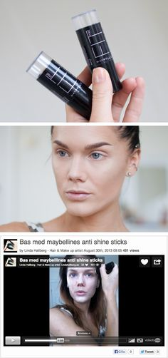 Maybelline's Anti Shine foundation stick -Linda Hallberg
