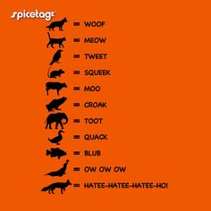 what animals say ^_^