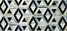 Kelly Wearstler Liaison stone mosaic in Doheny pattern.  Lovely for bathroom floor, kitchen wall, entryway, and more.
