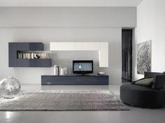 Hervorragend Stilvoll Wohnzimmer Weiß Grau