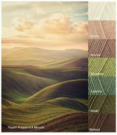 mountains meet sky - cream, stone, mocha, meadow, cypress, khaki, walnut ... PippinPoppycock