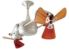 Matthews Fan Company DD-WD Duplo Dinamico Rotational Fan - Blades and Wall C Brushed Nickel Fans Ceiling Fans Indoor Ceiling Fans 36 Inch Ceiling Fan, 3 Blade Ceiling Fan, Ceiling Fans, Porch Ceiling, Ceiling Ideas, Brushed Nickel Ceiling Fan, Fan Blades, Heating And Air Conditioning, Modern Ceiling