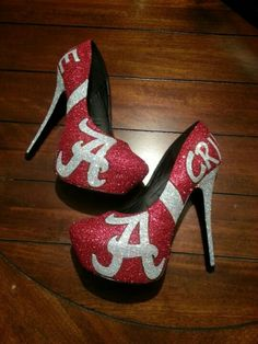 Crimson tide pumps... yes! I love these......couldn't POSSIBLY wear them....but I love them.