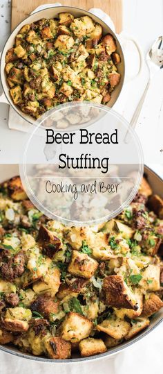 Take your Thanksgiving stuffing to the next level and use beer bread instead! It adds so much flavor and the end result can not be matched!