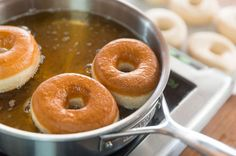 Want a Krispy Kreme doughnut recipe you can make at home? Our chewy, briochelike version is just the thing. Dessert Drinks, Dessert For Dinner, Dessert Recipes, Yeast Donuts, Doughnuts, Krispy Kreme Donut Recipe, Home Recipes, Cooking Recipes, Desert Recipes