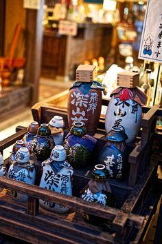 A Saki shop (rice wine) in old town Takayama Japan