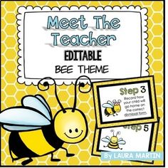 Meet the Teacher-Bee Theme- Back to school is so much easier with Meet the Teacher editable signs and forms! Classroom Birthday, School Classroom, School Fun, First Day Of School, Back To School, Teacher Forms, Teacher Blogs, Classroom Organisation, Classroom Themes