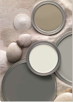 Beautiful Muted Grays, Taupe, & Creamy White... - hearty-home.com