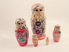 Vintage Russian Nesting Dolls  Matryoshka Dolls by ConstantlyAlice, $46.00