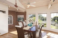 The dining room has its own private entry near the detached 3 car garage.