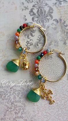Handmade Wire Jewelry, Handmade Jewelry Designs, Earrings Handmade, Beaded Jewelry, Diy Necklace, Bead Earrings, Leather Jewelry, Jewelry Crafts, Beading