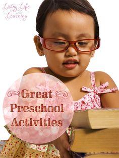 Fun ideas to keep your preschooler learning and happy #homeschool #preschool