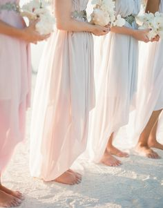 destination weddings and blush bridal dresses