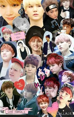 Collage, bts, and suga image