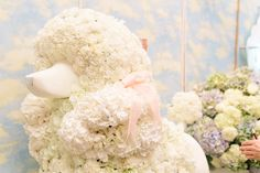 stunning floral poodles Ricky Paul Flowers Ltd @ Conde Nast Brides the Show 2015