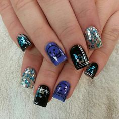 @Botanicnails     acrylic with gel color designs