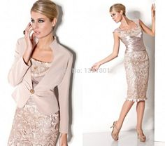 Lace Mother of the bride dresses Sexy Dress With Jacket Free Shiping knee length   Clothing, Shoes & Accessories, Wedding & Formal Occasion, Mother of the Bride   eBay!