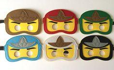 Ninjago Kids Felt Mask PARTY FAVORS