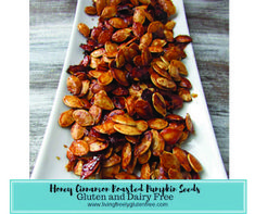 Healthy snack that is naturally gluten and dairy free. Tastes like kettle corn. Pumpkin Seed Nutrition, Fruit Nutrition Facts, Roasted Pumpkin Seeds, Roast Pumpkin, Great Roasts, Pumpkin Seed Recipes, Honey And Cinnamon, Dairy Free, Gluten Free