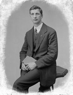 Éamon de Valera (1882-1975), M.P. for East Clare, 1918, from the National Library of Ireland on The Commons, via Flickr. De Valera was born in New York. He was spared a death sentence for his role in 1916 because of his American birth. Against the Anglo-Irish Treaty of 1921, de Valera founded the political party Fianna Fáil in 1926.  Later, he served multiple terms as head of government and then head of state. He led the introduction of a new Constitution of Ireland in 1937.