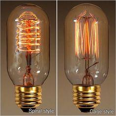 Rodio Style Light Bulbs/ Spiral and cage Filament/ Rustic Mason Jar Chandelier/ Mason jar Light Fixture