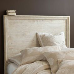 Something Kevin could do for me - much less-expensive with the same look ;-)    Picture Frame Headboard  | Ballard Designs