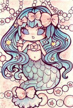 mermaid #KawaiiMermaid                                                                                                                                                                                 Mais