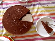Torta di cioccolato con caramello salato