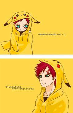 ピカチュウ我愛羅 我愛羅 x 皮卡丘 I don't really understand this whole Gaara x pikachu thing, but. I APPROVE Naruto Uzumaki, Anime Naruto, Gara Naruto, Sharingan Kakashi, Naruto Cute, Naruto Funny, Shikamaru, Naruto Shippuden Anime, Sasunaru