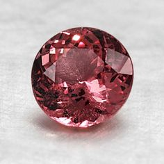 """6.7mm Orange Round Sapphire #BrilliantEarth I think someone is mistaken.  This picture is of a """"Podparasha"""" Sapphire."""
