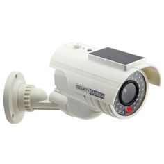 COP Security Solar Powered Fake Dummy Security Camera - White