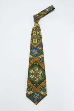 70s eclectic print tie #A6251285