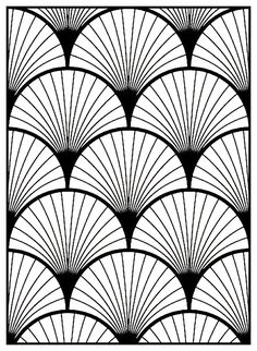 Art Deco pattern Adult coloring page Style From the gallery : Art Deco coloring coloriage Motifs Art Nouveau, Motif Art Deco, Art Deco Design, Art Deco Print, Art Deco Wall Art, Art Deco Paintings, Art Deco Illustration, Interiores Art Deco, Pattern Art