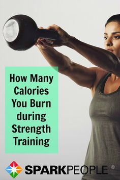How many calories do you really burn during strength training? The answer might surprise you! | via @SparkPeople #fitness #workout #exercise #strengthtraining #healthyliving