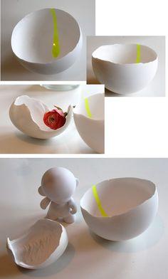 Plaster bowls...so sweet
