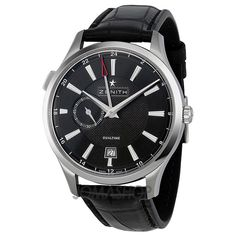 Zenith Captain Dual Time Black Dial Automatic Mens Watch 03213068222C493 $3,840