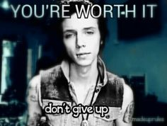 This picture means the world to me. I know that Andy only said the dont give up part. But knowing that he said dont give up gives me strength. Because black veil brides have saved my life. Im here because of music not people. Music is my copeing mechanism. So thank you to black veil brides, sleeping with sirens, mayday parade, my chemical romance, bring me the horizon,slipknot and more. Im strong because of you