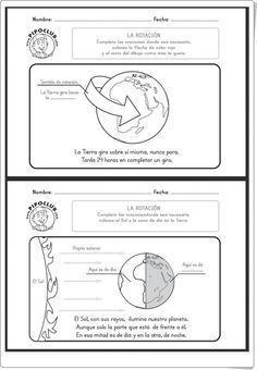 """""""La rotación de la Tierra"""" (Ciencias Sociales de 2º y 3º de Primaria) Sistema Solar, Science For Kids, Earth Science, 2nd Grade Worksheets, History Class, Sixth Grade, Science Projects, Social Science, Kids Education"""