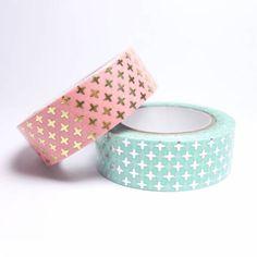 MASKING TAPE CROIX MÉTALLISÉES Cute School Supplies, Craft Supplies, Washi Tape Cards, Washi Tapes, Tapas, Decorative Tape, Duck Tape, Paper Tape, Tape Crafts