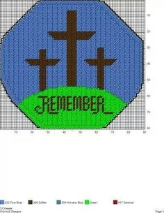 3 CROSSES by GrannyS Designs -- WALL HANGING