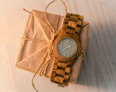 Ebony Wood Watch Natural Wooden Wristwatch by WOODEER HandMade Eco Man Woman Quartz New Round Gift designed in Europe