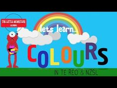 COLOURS in Te Reo NZSL New Zealand English, Baby Sign Language, Deaf Culture, Learning Colors, Little Monsters, Motion Design, Literacy, Colours, Teaching
