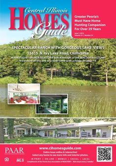 Check out the new issue of the Homes Guide to read more about this beautiful and relaxing lakefront property and other homes that are available!