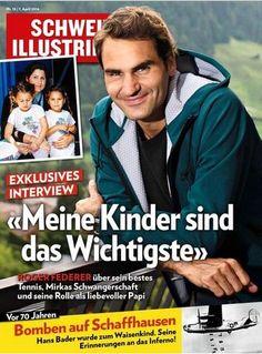"""Federer tapa de la revista suiza Schweizer-Illustrierte. """"Mis hijos son lo más importante"""""""