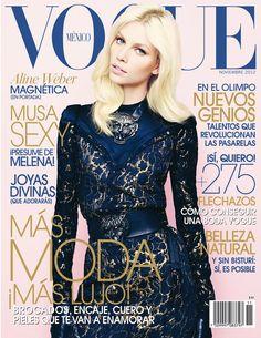 Aline Weber is Lovely in Lanvin for Vogue Mexicos November 2012 Cover  Lanvin, Vogue Magazine e16fcb2327