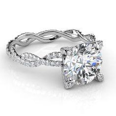 3.54 Ct. Round Brilliant Cut Diamond Infinity Engagement Ring Micro Pave F,SI2 EGL - Round Cut Diamond Infinity Engagement Ring Micro Pave