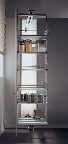 """View the Hafele 546.69.242 55.125"""" to 63"""" Tall Swing Pull Out Pantry Frame at Build.com."""