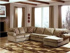 Ashley sectional with chaise