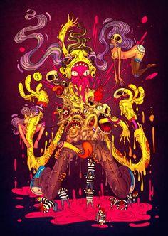 Une nouvelle sélection d'illustrations énergiques aux couleurs pop et explosives issues du portfolio deRaul Urias, un illustrateur Mexicain dont nous avions